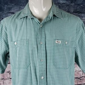 Polo by Ralph Lauren Shirts - Polo Sport Short Sleeve Button Plaid Large